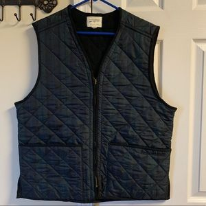 Vintage Field & Stream Quilted Plaid Vest